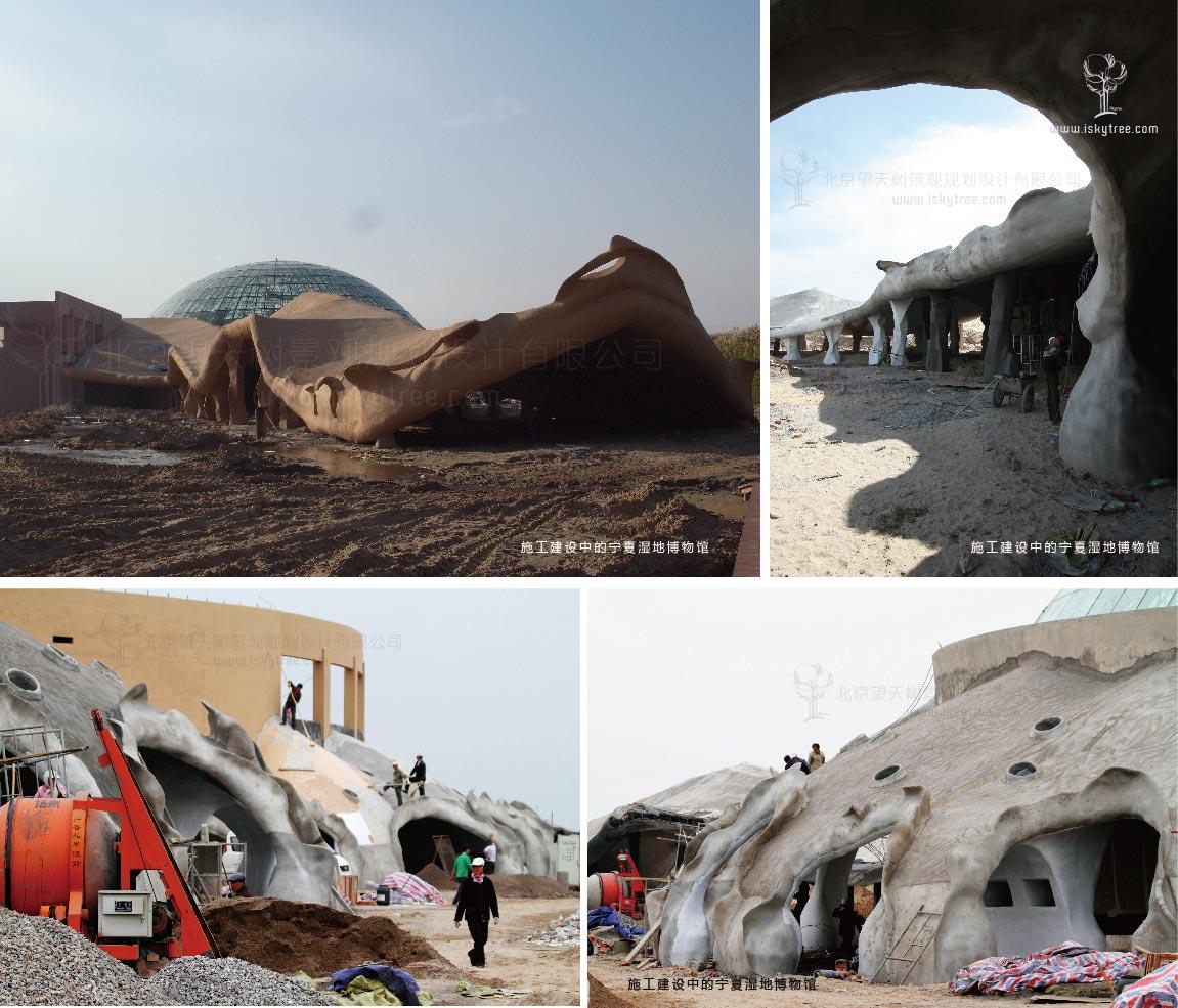 寧夏濕地博物館施工建設